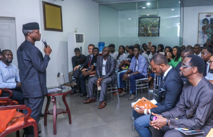 4. VP visits Ventures Park, interracts with Startup Nigeria. by Novo Isioro