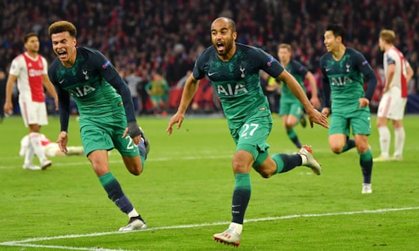 Image result for Spurs Beats Ajax 3-2 (3-3 Aggregate) To Set Up All English Finals In Madrid